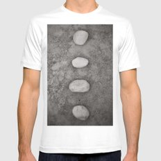 Lined up Mens Fitted Tee White MEDIUM