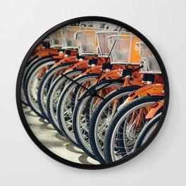 The Orange Bike Army Wall Clock