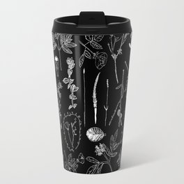 Nature Botanical Drawings by young kid artists, profits are donated to The Ivy Montessori School Travel Mug