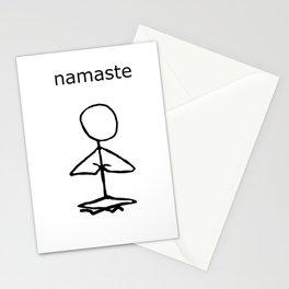 Namaste stick man Stationery Cards