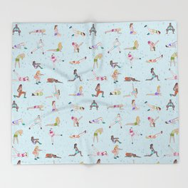 Ladies gym bag Throw Blanket