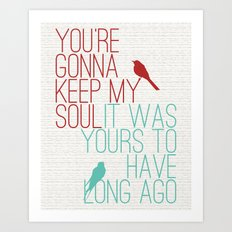 Keepsake - State Radio Lyrics Art Print