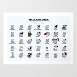 Robot Emotions Art Print