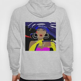 """""""Driving with my best friend"""" Paulette Lust's Original, Contemporary, Whimsical, Colorful Art Hoody"""