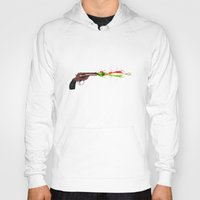 gun Hoodies featuring Gun by Steve Mac