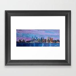 Sydney Skyline with Opera at Dusk Framed Art Print