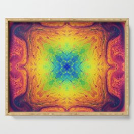 Psychedelic Two Serving Tray