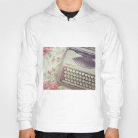 typewriter Hoodies featuring Typewriter by Beth Retro