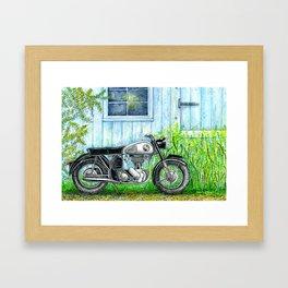 Norton ES2 Motorcycle Framed Art Print