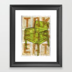 Come On In...Take A Green Seat Framed Art Print