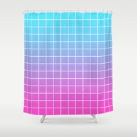 gradient Shower Curtains featuring Gradient by aesthetically