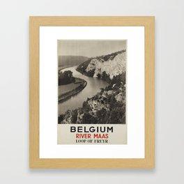 billboard Belgium River Maas Framed Art Print