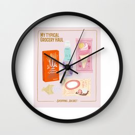 My typical grocery Haul Japan Design Wall Clock
