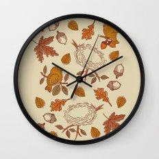 Fly Away Fall Wall Clock