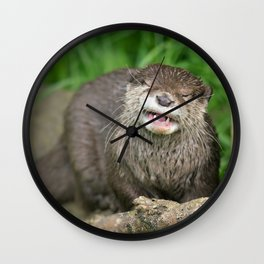 Smiling Otter Wall Clock