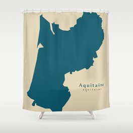 Modern Map - Aquitaine FR France Shower Curtain