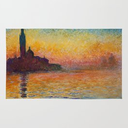 San Giorgio Maggiore by Twilight by Claude Monet Rug