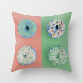 Doughnut Bliss Sweet Candy Shop Pop Art Print Throw Pillow