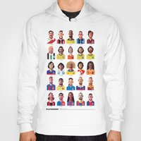 word Hoodies featuring Playmakers by Daniel Nyari