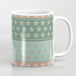 Flowers on stripes shabby chic pattern Coffee Mug