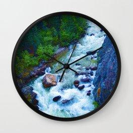 Astoria River in Jasper National Park, Canada Wall Clock