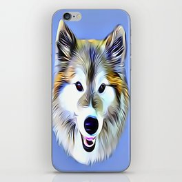 A Wolf Hybrid iPhone Skin