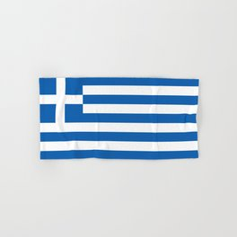 Flag of Greece, High Quality image Hand & Bath Towel