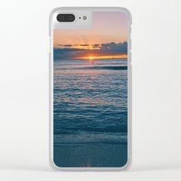 Orange Sun Clear iPhone Case