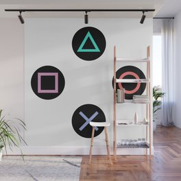 Play with Playstation Controller Buttons Wall Mural