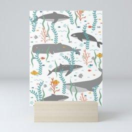 Whales of the Sea Mini Art Print