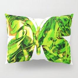 Fluid Butterfly (Green Version) Pillow Sham