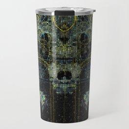Mosaik Fraktal Galaxis Travel Mug