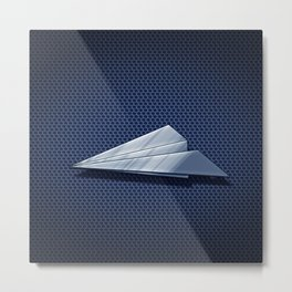 Paper Airplane 113 Metal Print