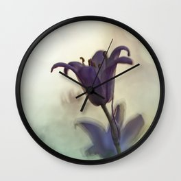 Bluebell in early evening light Wall Clock
