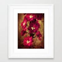 vintage flowers Framed Art Prints featuring Vintage Flowers by Christine Belanger
