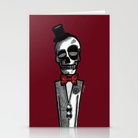 gentleman Stationery Cards featuring Gentleman by Skullmuffins