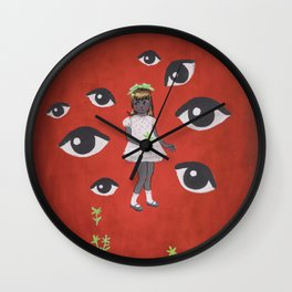 The Flower Picker Wall Clock