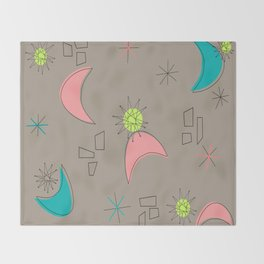 Boomerangs and Starbursts Throw Blanket