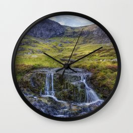 Lake Idwal Stream Wall Clock