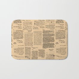 George Washington's Letters // Dark Paper Bath Mat