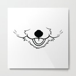 funny Animals Face Mask Designs Metal Print