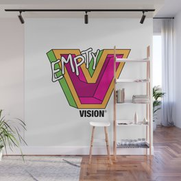 Empty V (Pink) Wall Mural