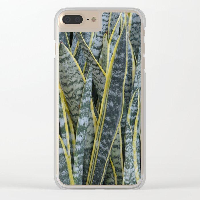 Snake Plants II Clear iPhone Case