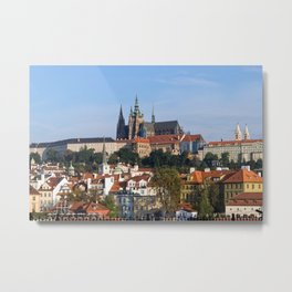 Old town and Prague castle Metal Print