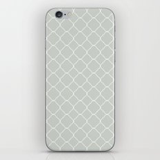 Gray Grey Moroccan Sea Salt iPhone Skin