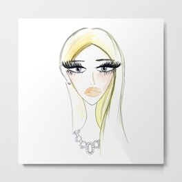 Glam Blondy Metal Print