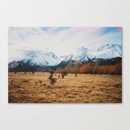 Peaceful New Zealand mountain landscape Canvas Print