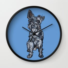 Rupert the Miniature Schnauzer Wall Clock