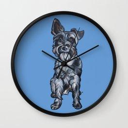 Rupert the Miniature Schnauzer Wall Clock