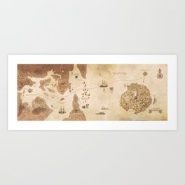 The Antlered Ship - Endpapers Art Print